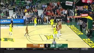 Texas at Baylor Men's Basketball Highlights