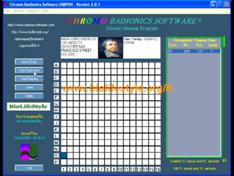 Chromo Radionics Software Tutorial ITA (part.8) by www.biolifestyle.org/it
