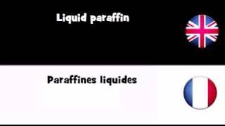 APPRENEZ L'ANGLAIS UK = Paraffines liquides
