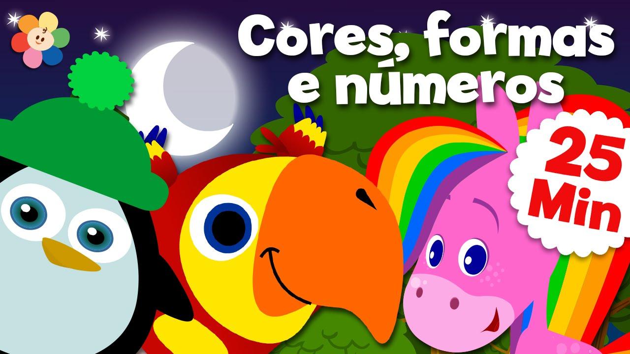 Videos Educativos Para Criancas Compilacao Cores Formas