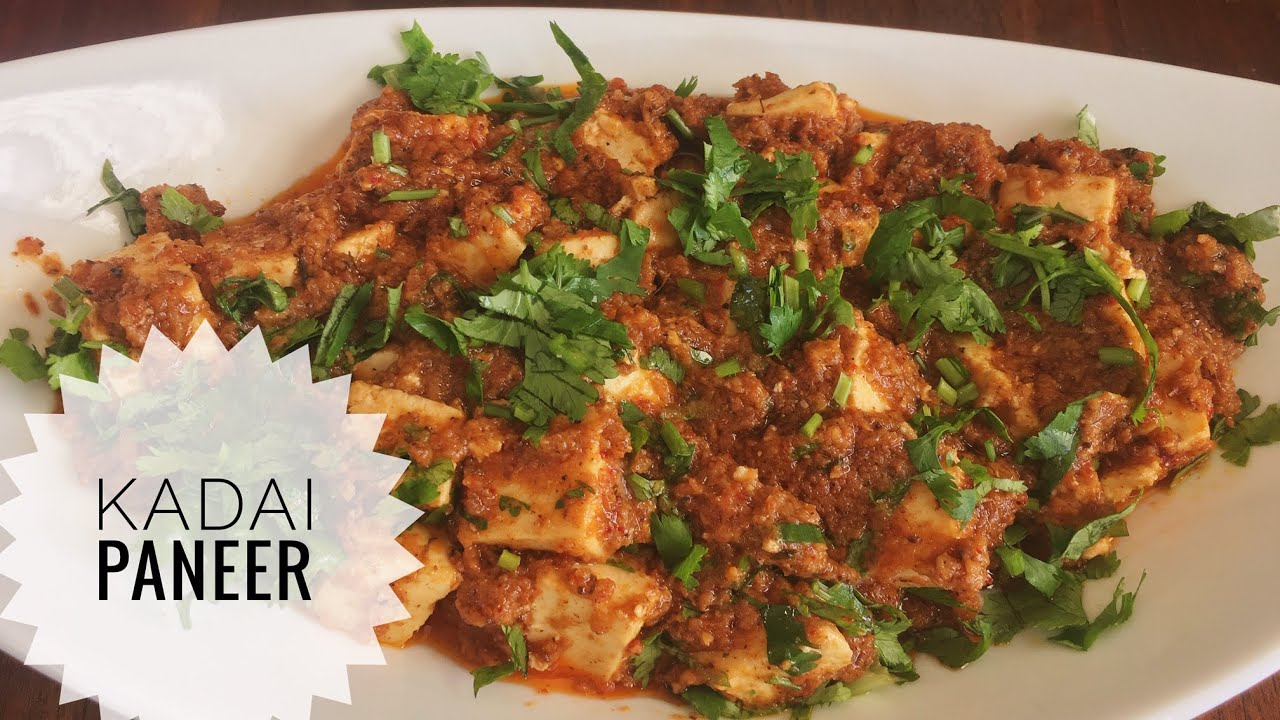 Kadai Paneer recipe - Indian cheese in a creamy red sauce