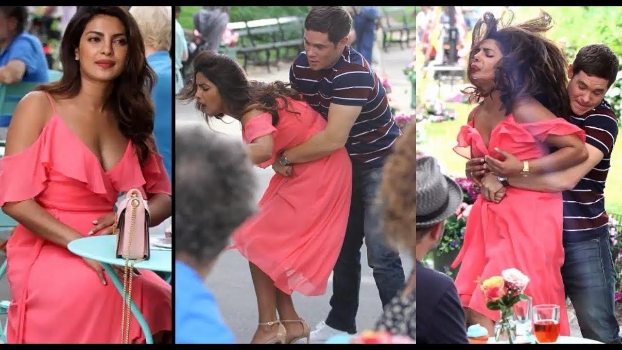 Priyanka Chopra Groped On Her Asset Big Boobs Pressed By A -8144
