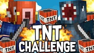 THE TNT CHALLENGE in BEDWARS!! - Minecraft Mini Game