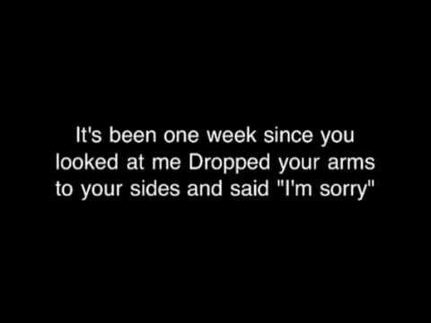 Bare Naked Ladies - one week (lyrics)
