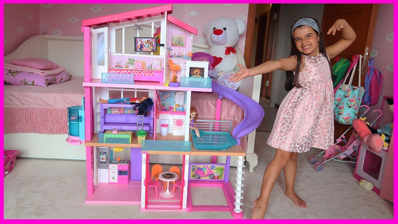 Rüya's New Magical Barbie House - Funny Kid Video
