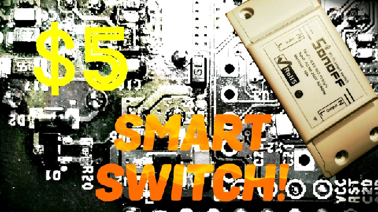 Sonoff: $5 Smart Switch! Works with Smartthings!
