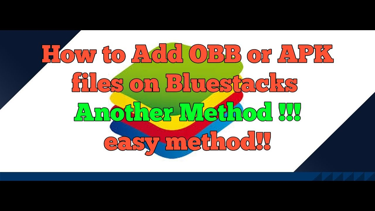 How add OBB file On Bluestacks 3 Another Method! (For windows folder  question mark problem!!!!)