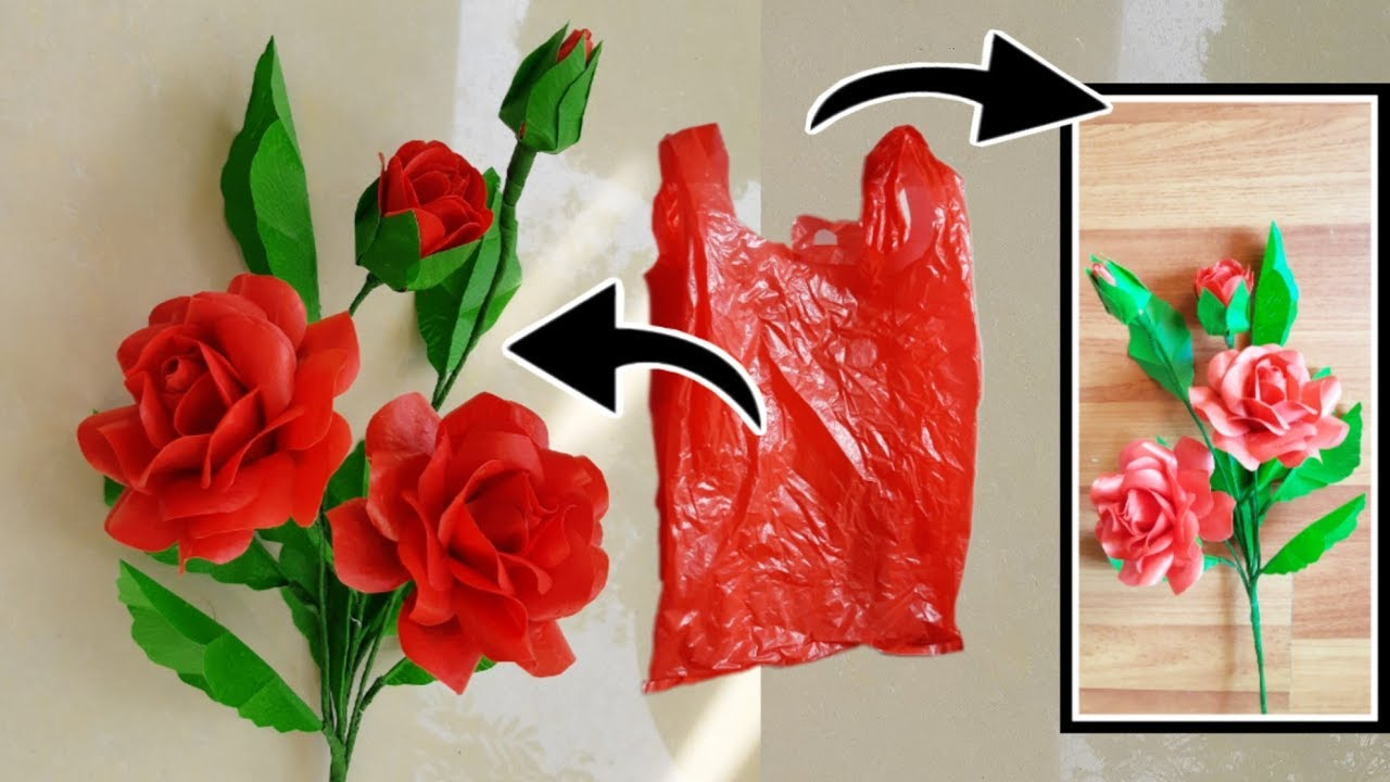 Bunga Mawar Merah Plastik Kresek Youtube