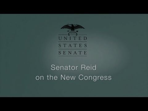 Senator Reid on the New Congress