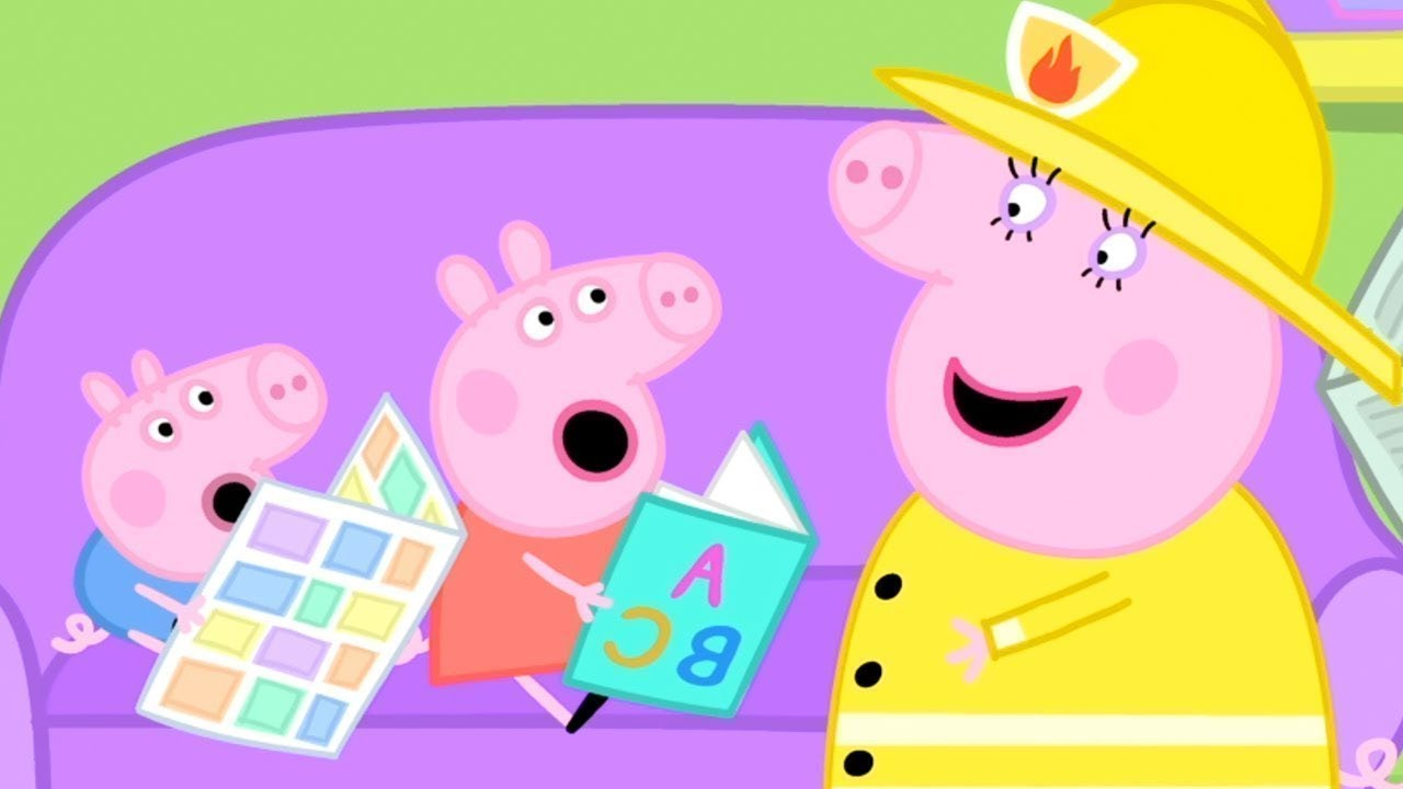 Peppa Pig English Episodes Peppa Pig At The Fire Station Peppa Pig Official Youtube