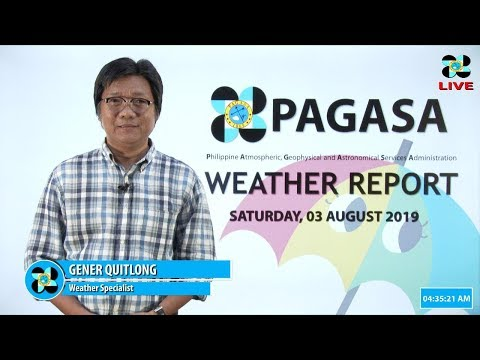 Public Weather Forecast Issued at 4:00 AM August 03, 2019