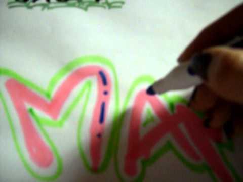 Como decorar letras by laura 2 youtube for Como decorar unas facil