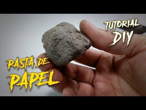 Así Se Hace La Pasta De Papel Para Modelar Máscaras / Tutorial / DIY /¿Cómo Se Hace?/ Hazlo Tu Mismo