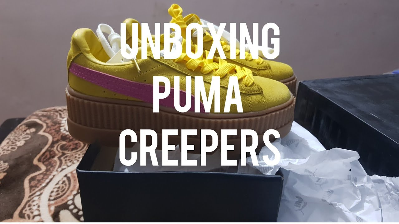 new style ed1a2 34f8d UNBOXING - PUMA CREEPER SUDE UNISEX YELLOW PINK FOR INDIAN CREEPER LOVERS