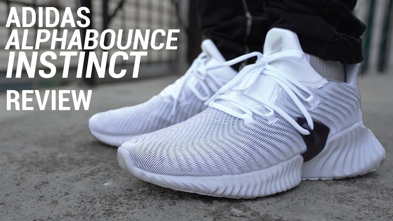 new product d8ba9 fa295 ADIDAS ALPHABOUNCE INSTINCT REVIEW  ON FEET