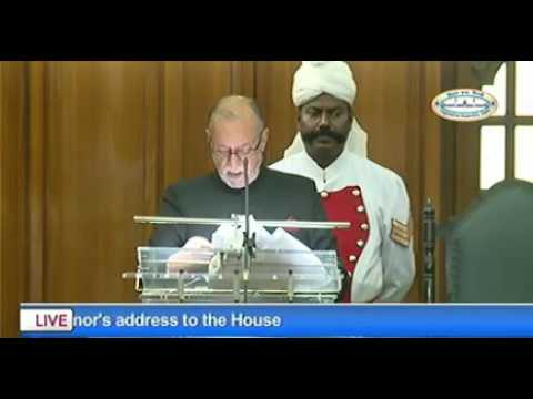 Delhi LG Anil Baijal addresses Delhi Assembly
