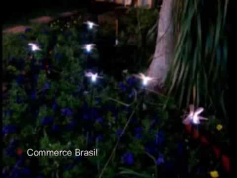 Luminaria solar borboletas ou libélulas - Commerce Brasil