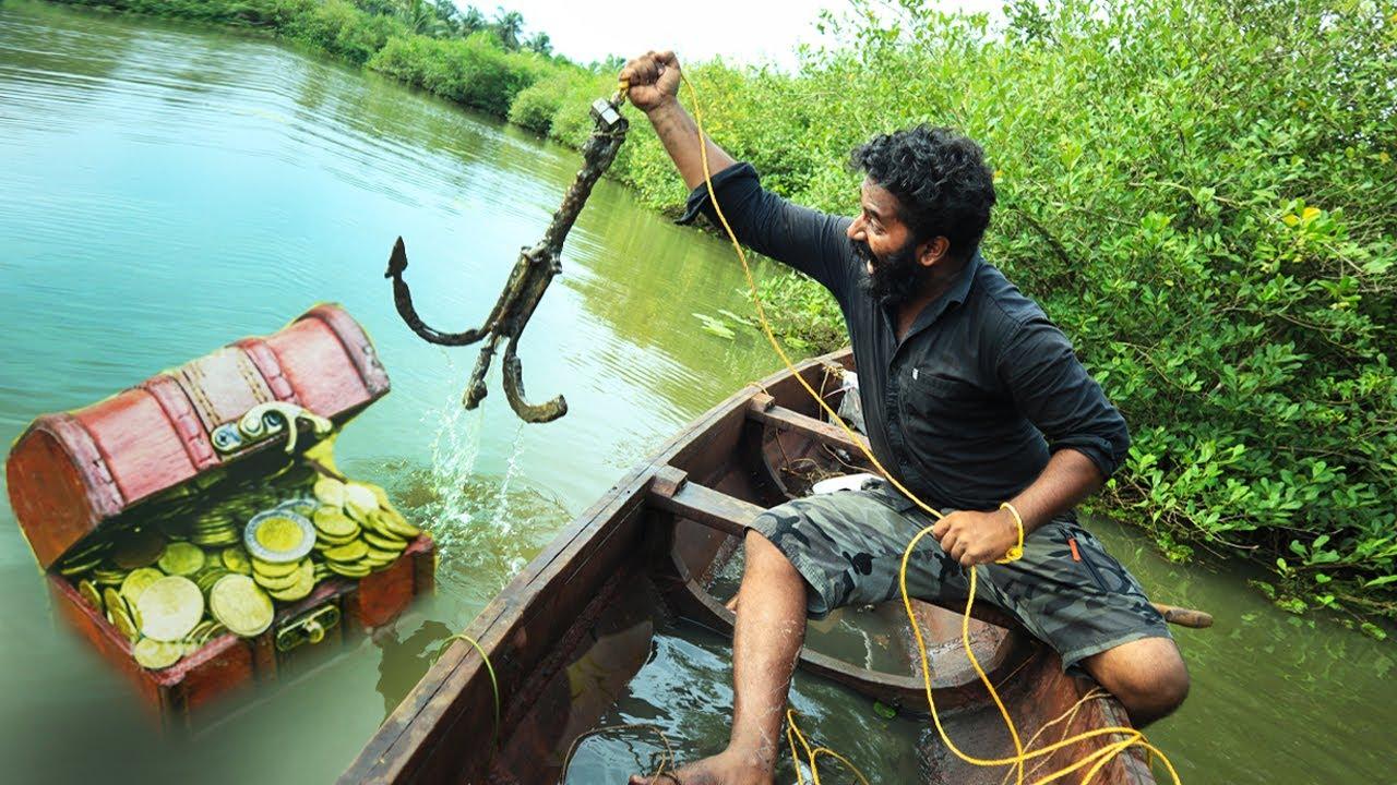 കാന്തം കൊണ്ട് നിധികിട്ടി | Magnetic Fishing Treasure Hunting | M4 Tech |