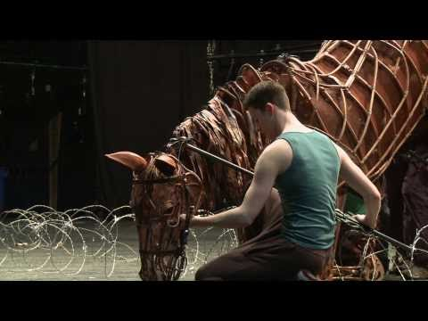 War Horse London 2011 company in rehearsals
