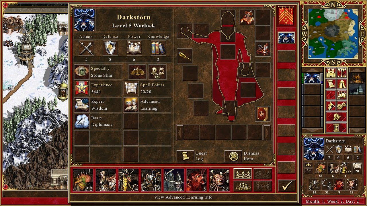Heroes of might and magic III HD végigjátszás kommentár 30. rész-Vegyes kampány teljes 3. pálya