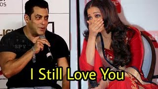 Finally ! Salman Khan admits he still loves Aishwarya Rai ♥️|OMG !!