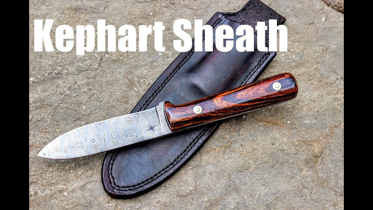 Making A Leather Sheath For A Kephart Knife In Damascus Steel, Bushcraft knife making bladesmithing