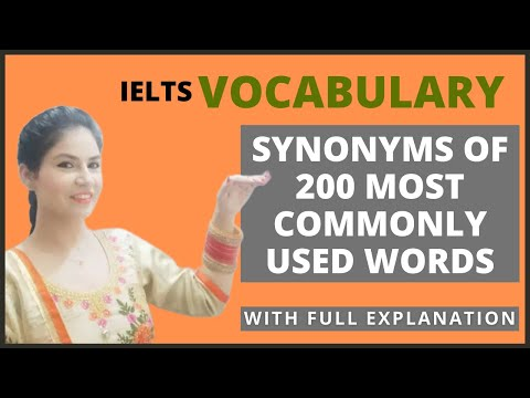 IELTS Writing Vocabulary   Synonyms for IELTS   A to Z Essential Synonyms   200 Synonyms for IELTS
