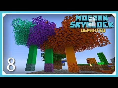 Modern Skyblock 3 Departed | Slime Saplings & Slime Balls! | E8 (Modern Skyblock 3 Gated)