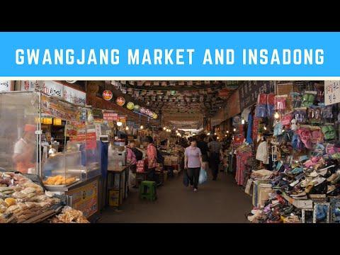 Traveling in Korea: Gwangjang Market and Insadong (광장시장 & 인사동)