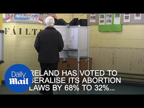 Exit poll says Ireland has voted to liberalise its abortion laws - Daily Mail