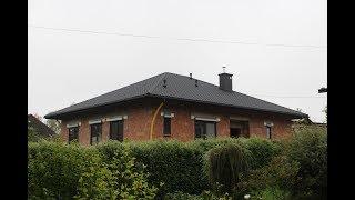Budowa domu KROK PO KROKU etap 7: dach (więźba, blachodachówka, komin, rynny)