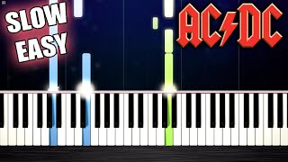 AC/DC - Highway To Hell - SLOW EASY Piano Tutorial by PlutaX