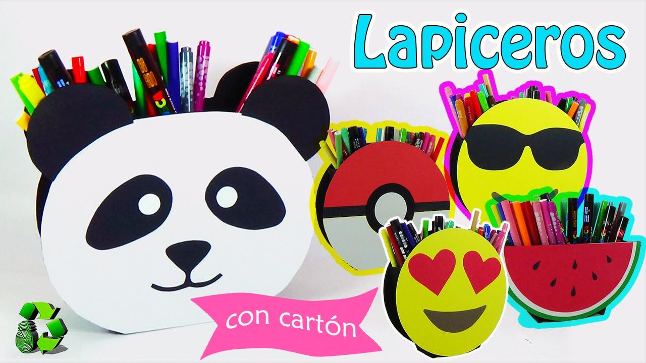 Lapicero panda emoji sand a y pokeboll reciclaje for Lapiceros reciclados manualidades