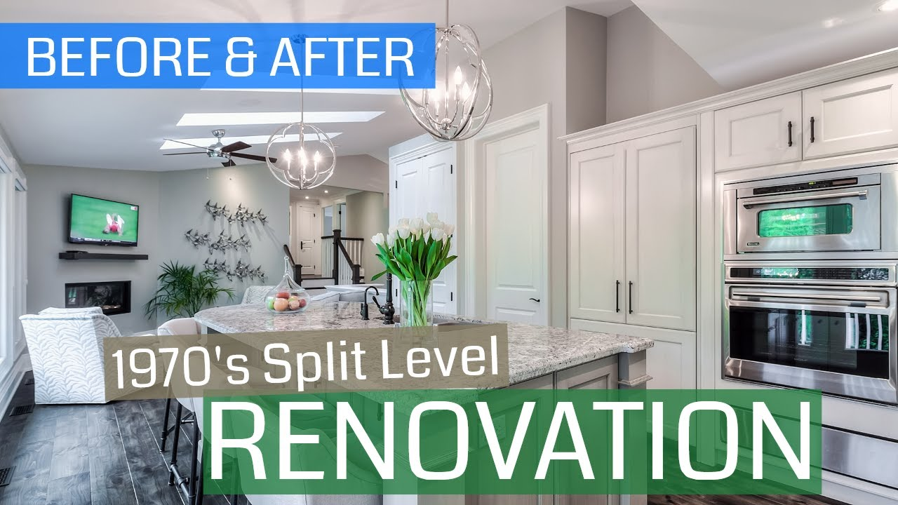 Before After 70 S Split Level Renovation Youtube