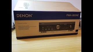 Unboxing the Denon PMA-800NE  Integrated amplifier. USA