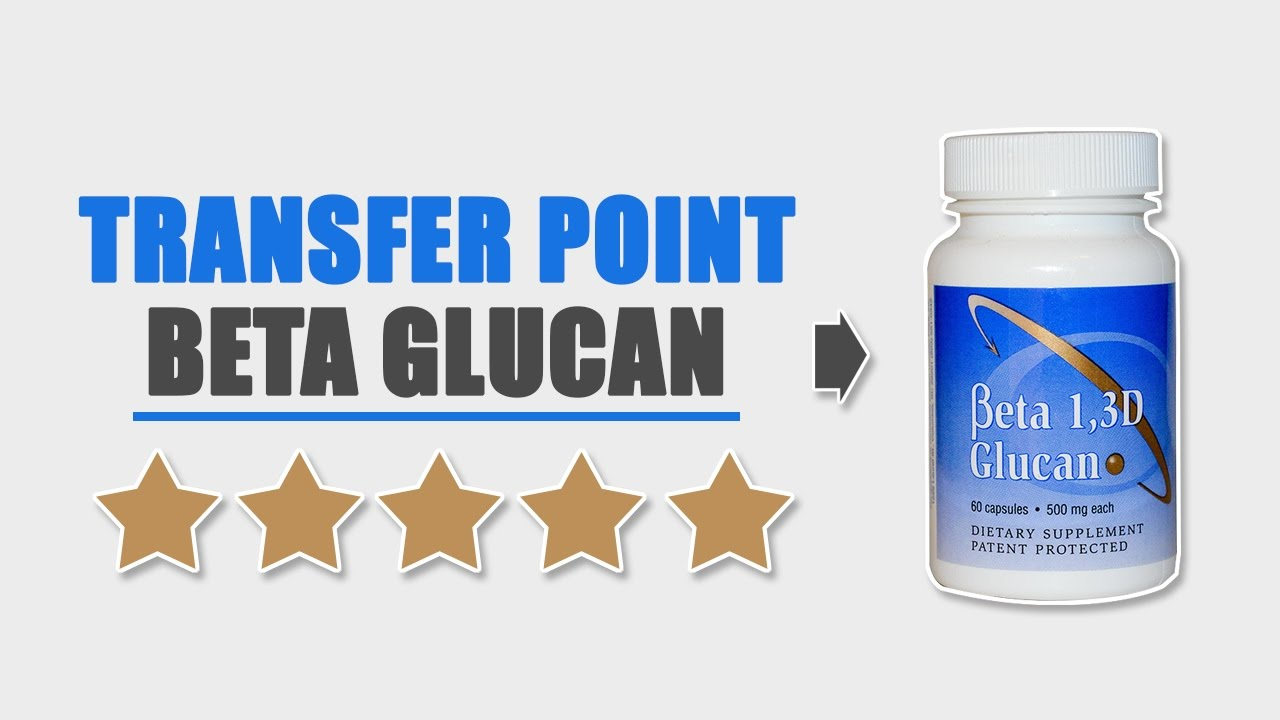Transfer Point Beta 1, 3D Glucan Product Review - YouTube