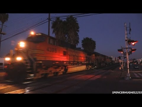 BNSF, Amtrak & Metrolink Action In Fullerton, CA (February 10th, 2014)