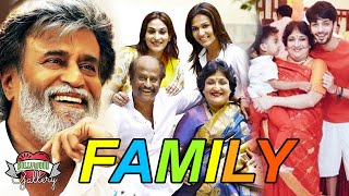 Rajinikanth Family With Parents, Wife, Daughters, Brother and Grandchildren