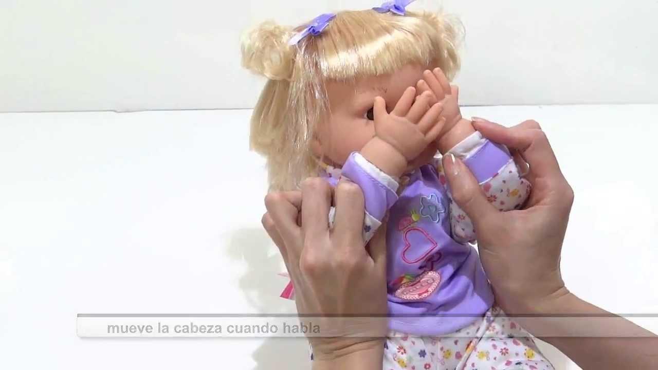 Mu eca bebe de juguete para ni as con 28 funciones habla for Espejo que habla juguete