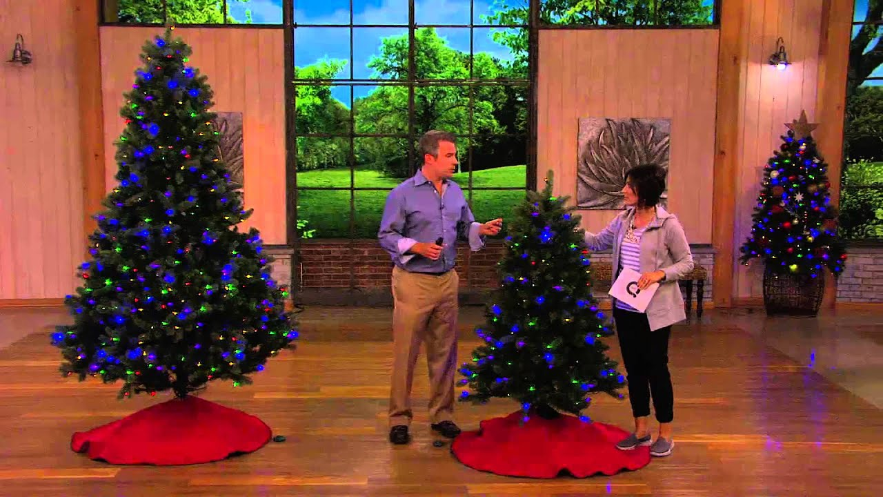 santas best 75 colorado spruce tree w ez power 7 light functions with carolyn gracie - Santas Best Christmas Trees