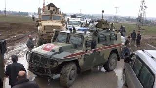 Suriyede ABD ordusu, Rus askeri aracını durdurarak geri çevirdi