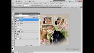 Урок Adobe Photoshop #29 | Шаблон для свадебных фото