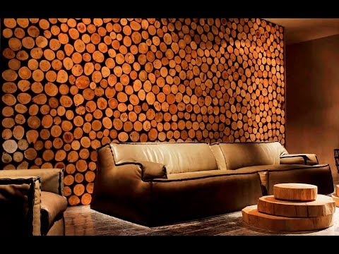 Деревянные спилы в интерьере. Деревянный декор