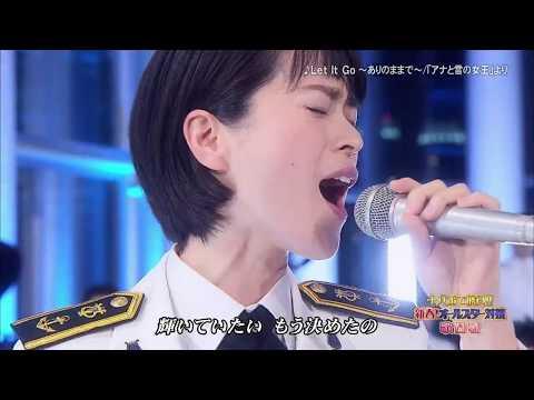 """三宅由佳莉さん、テレビ出演で「アナ雪」熱唱/ Yukari Miyake singing """"Let it Go""""."""