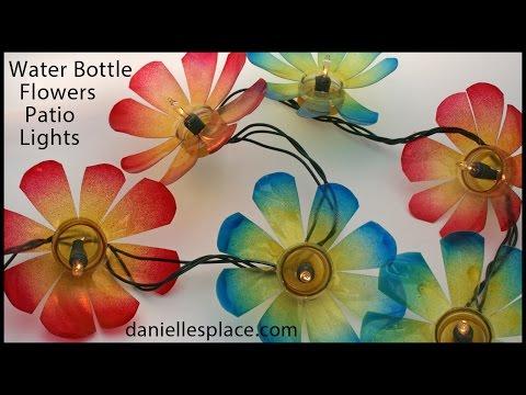 Water Bottle Flowers Patio Lights