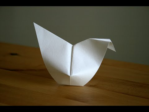 Origami poule de p ques easter hen senbazuru youtube - Decoration de paques ...
