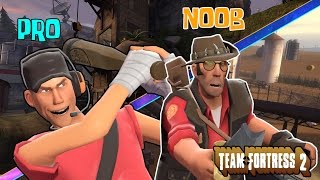 El pro y el Noob| team fortress 2 gameplay espanol(tf2 funny moments)