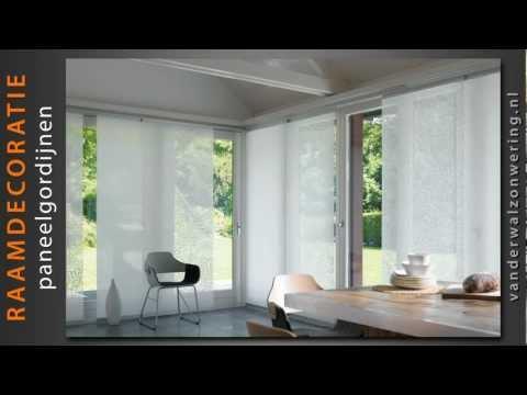 Paneelgordijnen van der wal zonwering product video youtube