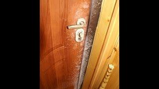 видео Металлическая дверь зимой не мокреет