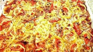Быстрая пицца на слоеном тесте. Очень вкусно! Рецепт - Пальчики оближешь
